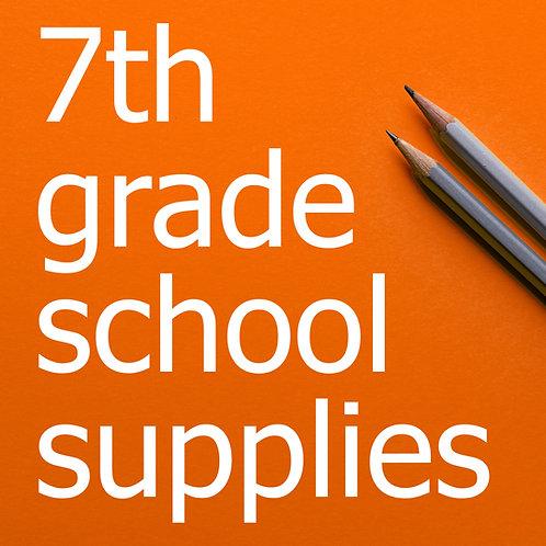 7th Grade Prepackaged School Supplies 2021-22