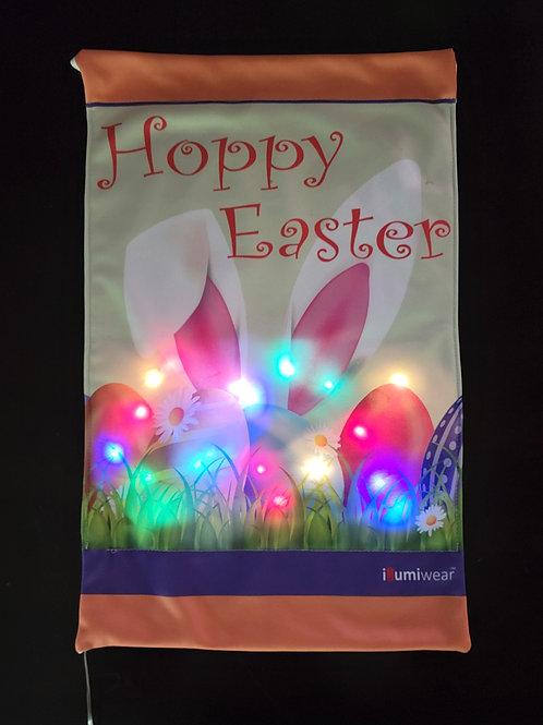 Hoppy Easter Solar Powered Garden Flag