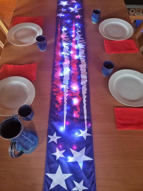 Stars and Stripes Light UP Table Runner