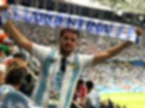 Argentina light up scarf Russia Wortd Cu