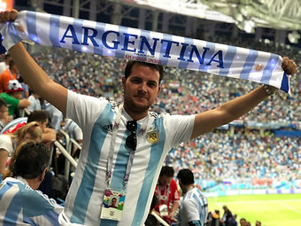 Argentina light up scarf Russia Wortd Cu