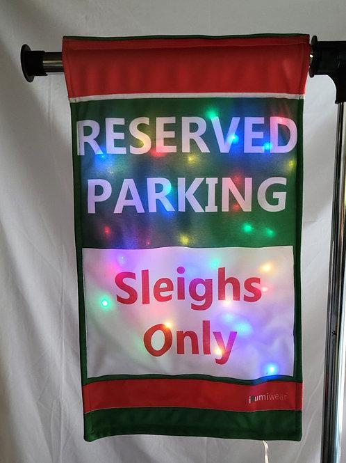 Sleigh Parking Garden Flag