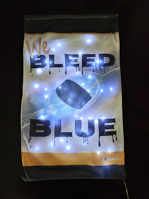 Solar Powered Bleed Blue Garden Flag