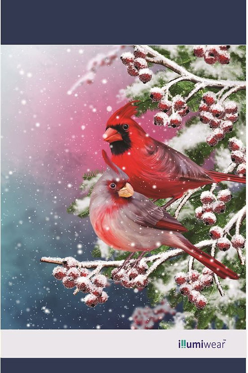 Snowy Cardinals Garden Flag