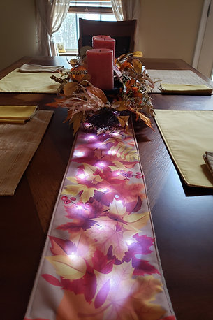 Autumn Harvest Light UP Table Runner