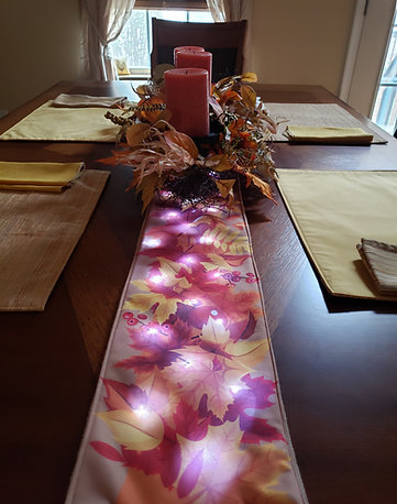 Autumn Harvest Light UP Table Runner