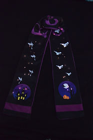 Halloween Scarf with LED ligts
