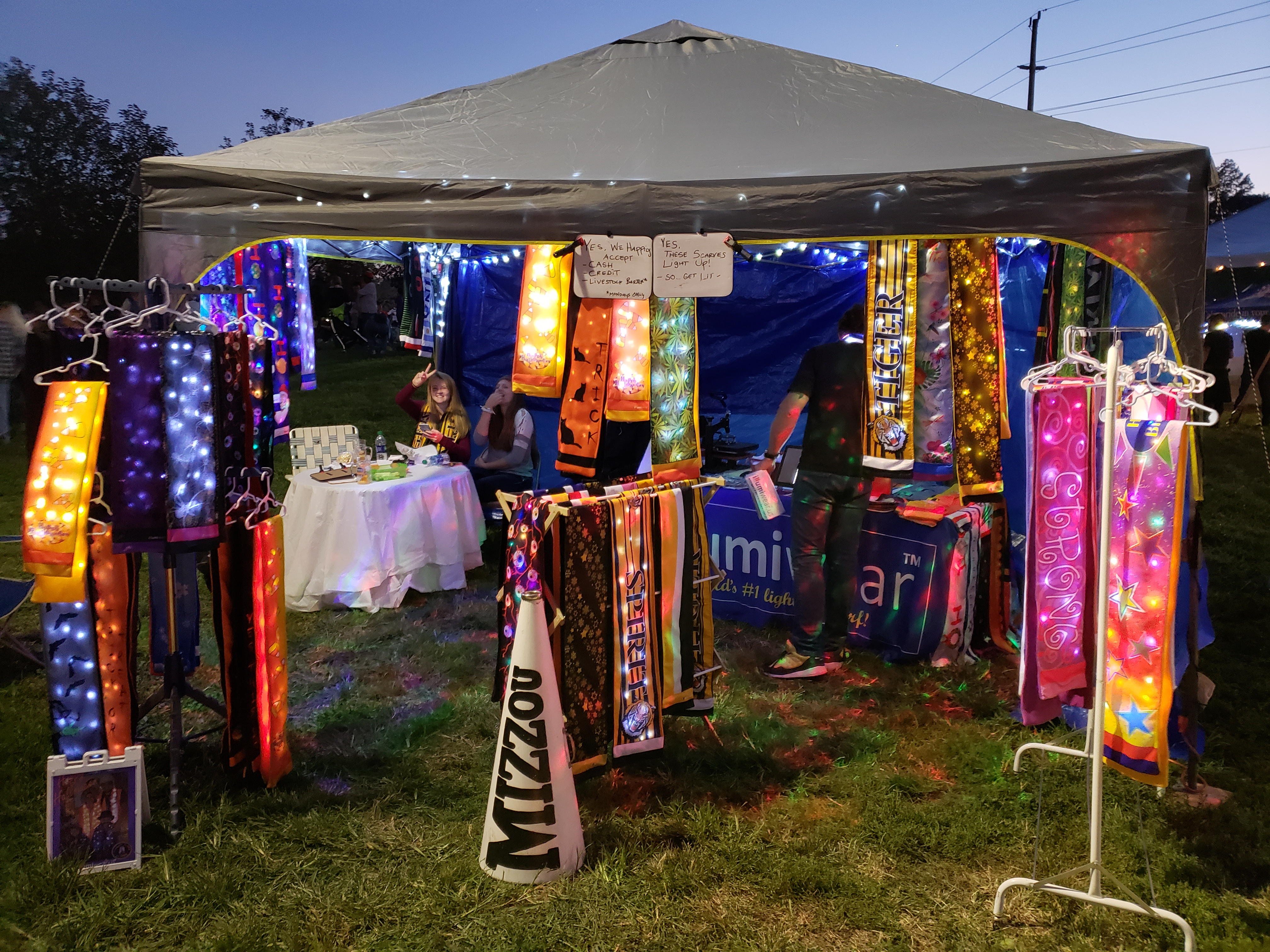 Light Up Scarf-a-Palooza