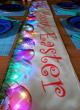 Hoppy Easter Rechargeable LED Table Runner