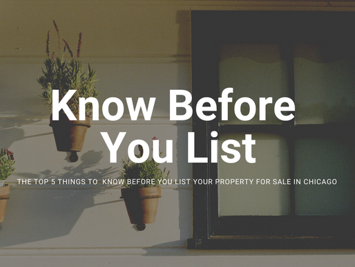 Top 5 Things to Know Before You List Your Chicago Home