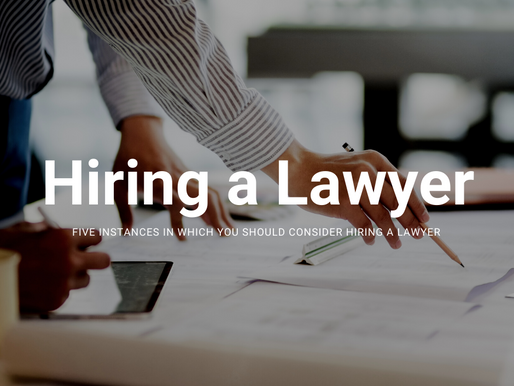 Millennials – don't be afraid of seeking legal advice. Here are 5 instances on when to hire a lawyer