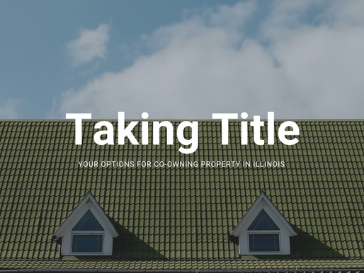Co-Ownership: How Will You Take Title To Your Property?