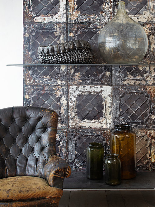 Wallpaper - Tin 7 Brown