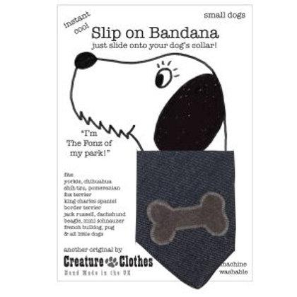 Bandana - Grey Bone on Denim