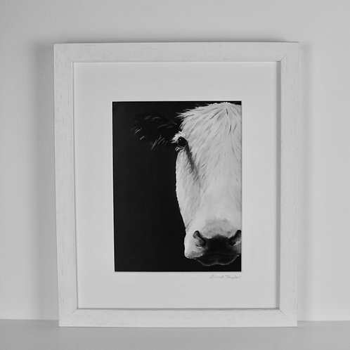 Cow Print - Black and White