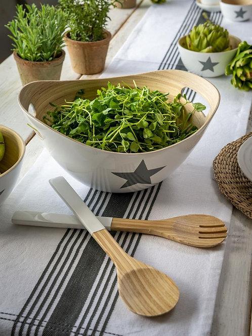 Star salad bowl and servers