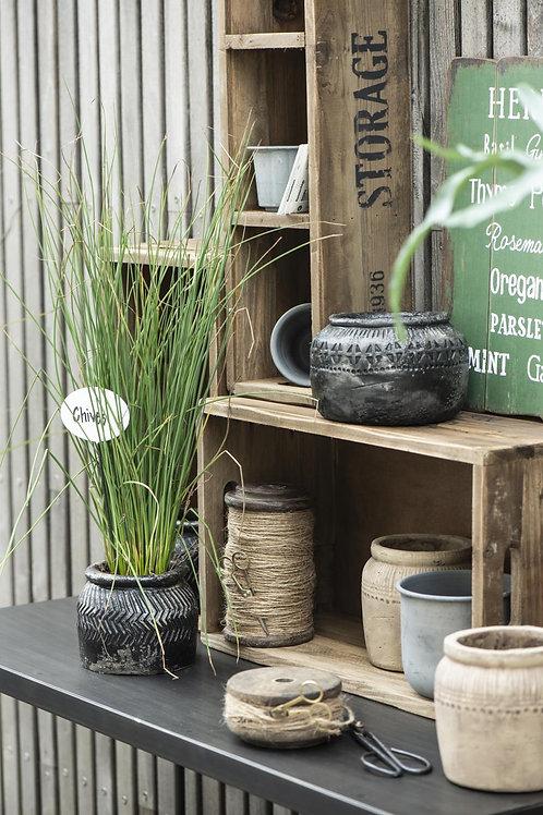 Black African Plant Pot