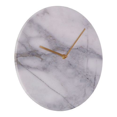 Lamonte Grey Marble Clock