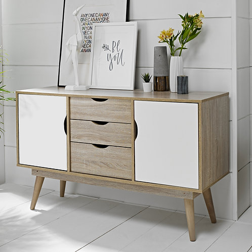 Scandi White Sideboard