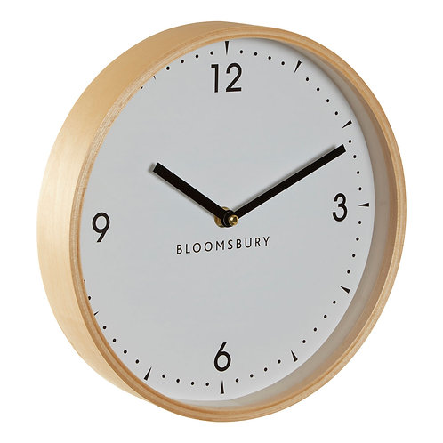 Vitus White Wood Clock
