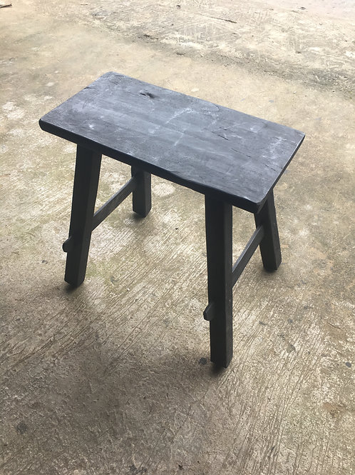 Black Rustic Bench