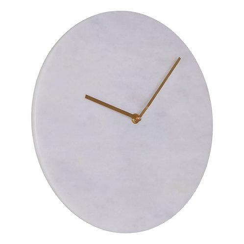 Lamonte White Marble Wall Clock