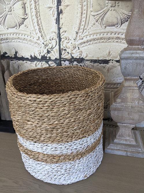 Large Stripe Seagrass Basket