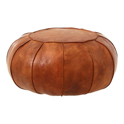 Buffalo Brown Leather Pouffe