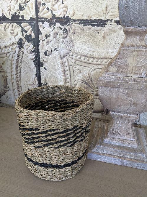 Striped Seagrass Basket