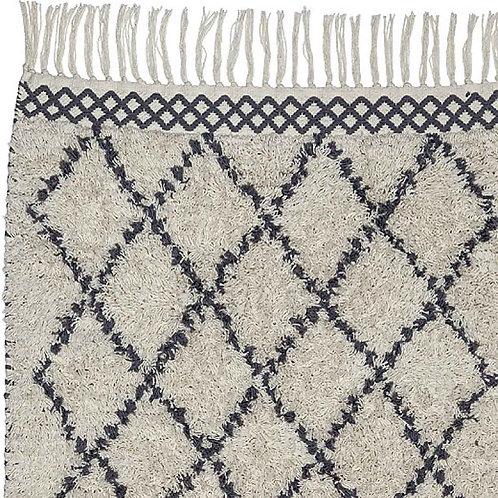 Grey/Natural Cotton Rug
