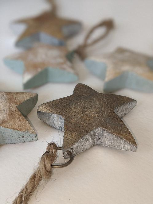 Wooden Hanging Stars