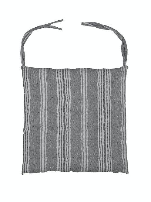 Striped Seat Pad - Grey