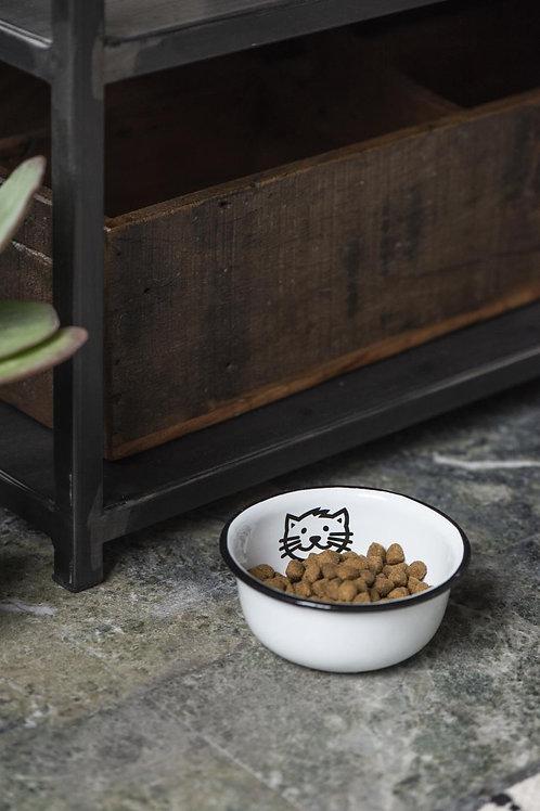 Enamel Cat Dish