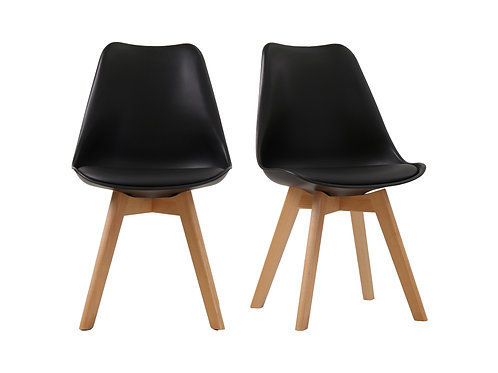 Louvre Chairs Black x2