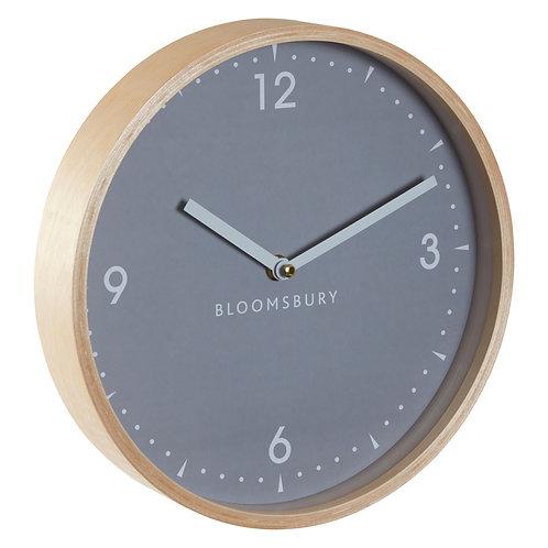 Vitus Grey Wood Clock