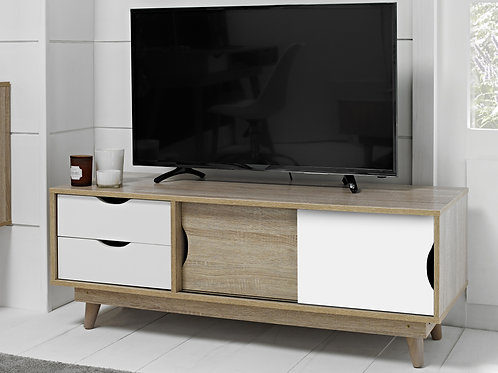 Scandi White TV Unit