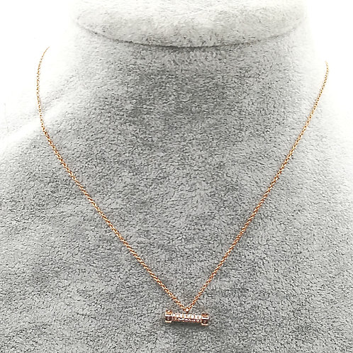 Off The Rails Rosegold Plated Necklace