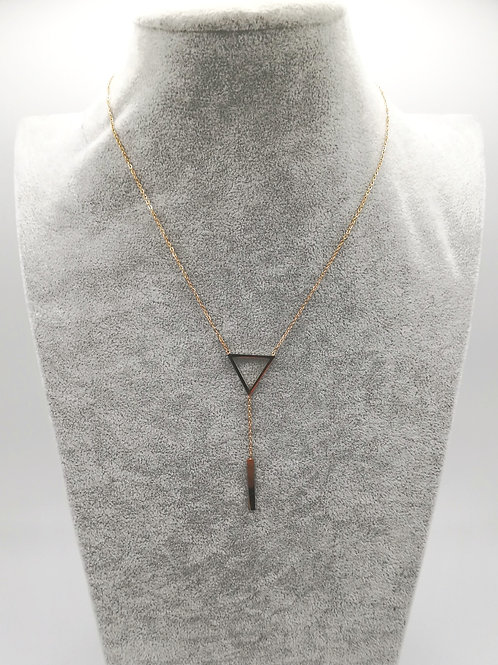 Geometric Desire Gold Plated Necklace