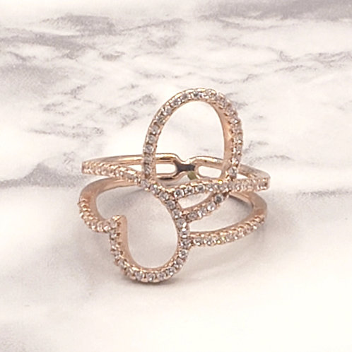 Butterfly Kisses Rosegold Plated Ring