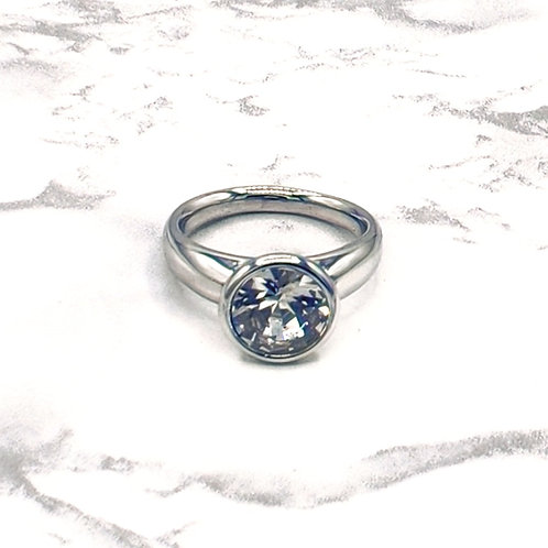 Minimalist White Gold Plated Ring
