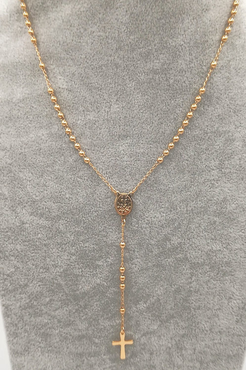 Rosary Delicate 14k Gold Plated Necklace