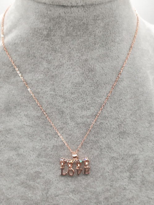 Love & Shine Rosegold Plated Necklace