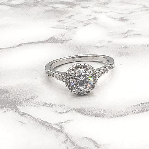 Eleganté White Gold Plated Ring