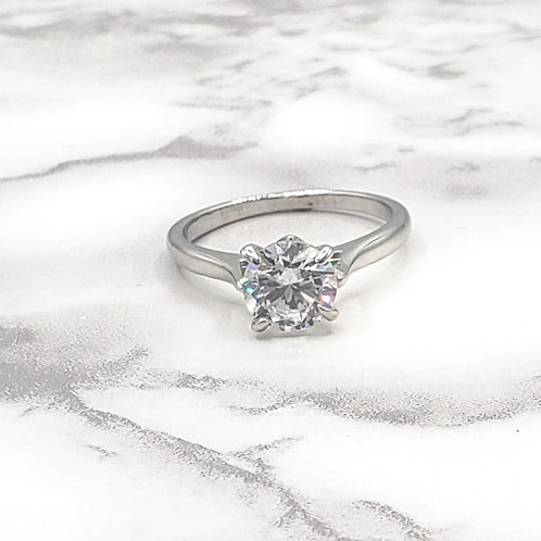 Say I Do White Gold Plated Ring