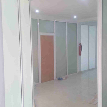 Aluminium, glass and drywall partiiton, Tripple Sea Ltd