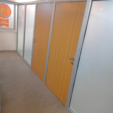 Aluminium, glass office partition, Aje