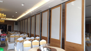 Folding partition wall types