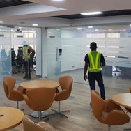 Switchable smart glass partition project - Infracredit