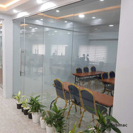 Frameless glass partition project - Credit Registry