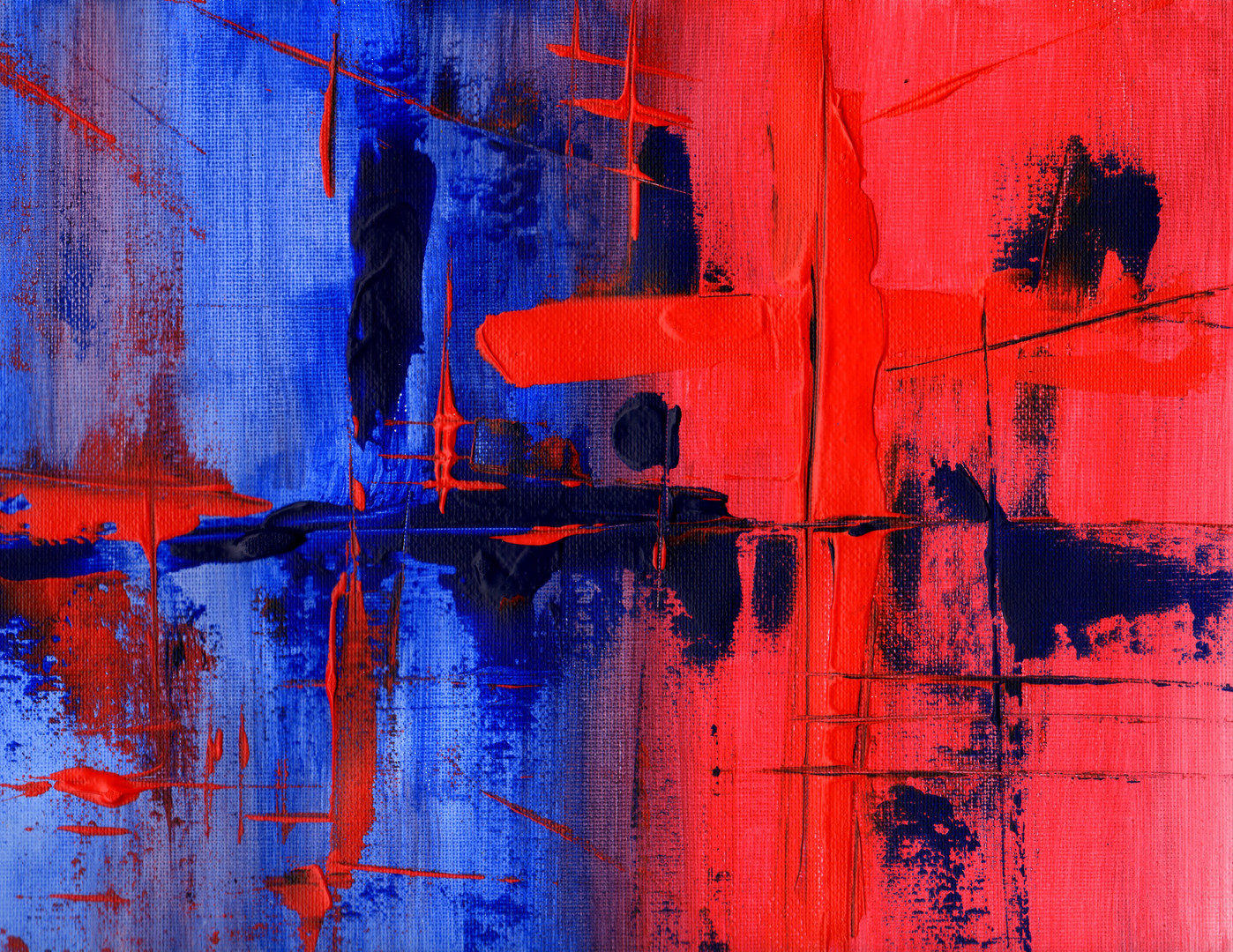 Interplay of Blue and Red